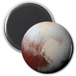 Planeta enano Plutón por la foto 2015 de la NASA Imán Redondo 5 Cm