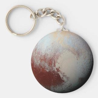 Planeta enano Plutón por la foto 2015 de la NASA Llavero Redondo Tipo Pin