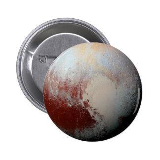 Planeta enano Plutón por la foto 2015 de la NASA Pin Redondo De 2 Pulgadas