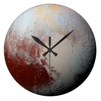 Planeta enano Plutón por la foto 2015 de la NASA Reloj Redondo Grande