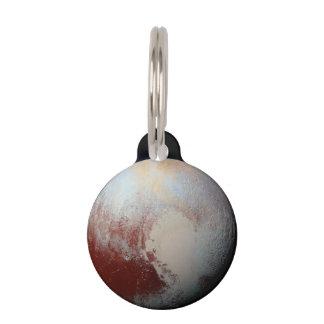 Planeta enano Plutón por la placa de Identificador Para Mascotas