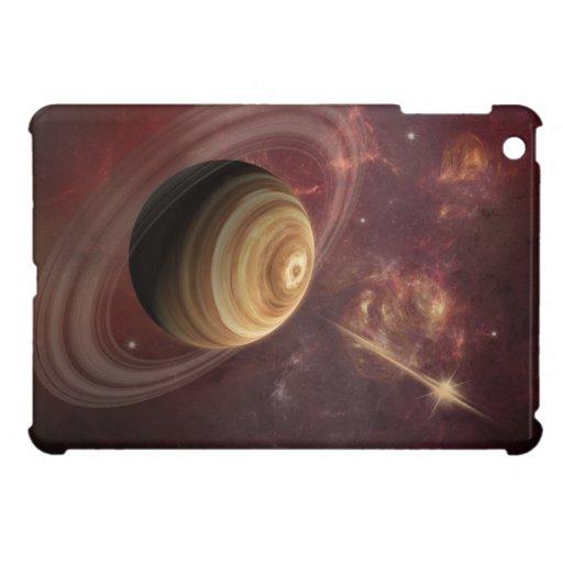 Planeta, estrellas y Sun en arte de la fantasía de iPad Mini Funda