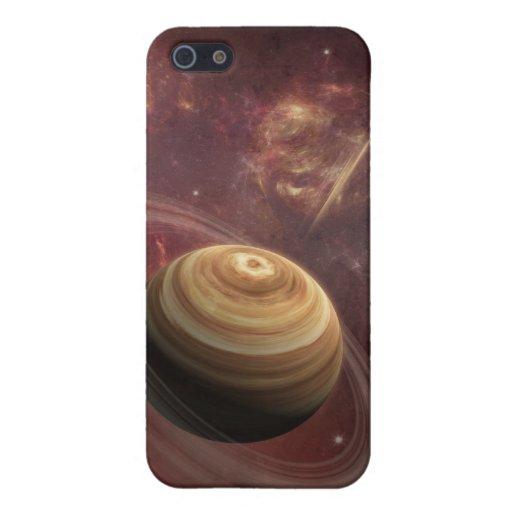 Planeta, estrellas y Sun en arte de la fantasía de iPhone 5 Carcasas
