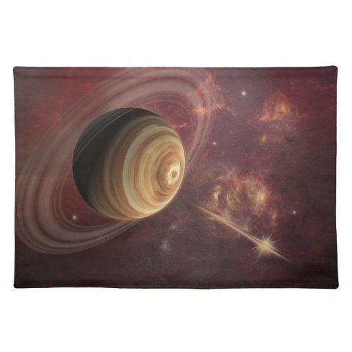 Planeta, estrellas y Sun en arte de la fantasía de Manteles