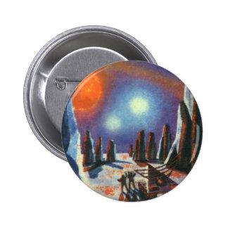 Planeta extranjero de la ciencia ficción del pin redondo de 2 pulgadas