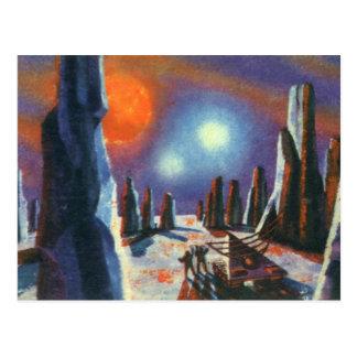 Planeta extranjero de la ciencia ficción del tarjetas postales