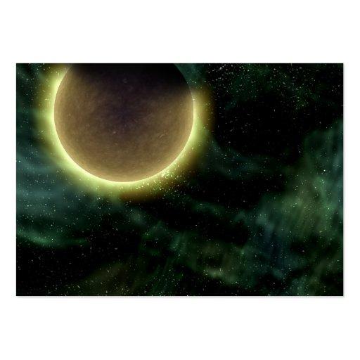 Planeta extranjero de la galaxia de Digitaces en n Tarjetas De Visita Grandes
