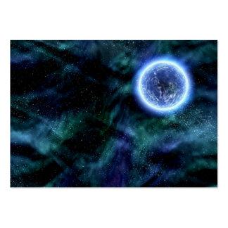 Planeta extranjero de la galaxia de Digitaces en n Tarjeta De Negocio