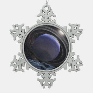 Planeta Extrasolar Adorno De Peltre En Forma De Copo De Nieve