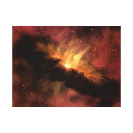 Planeta-Formación del disco Impresiones En Lienzo Estiradas