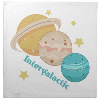Planeta intergaláctico servilleta de papel