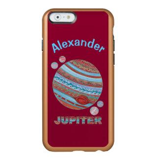 Planeta Júpiter y friki colorido del espacio de Funda Para iPhone 6 Plus Incipio Feather Shine