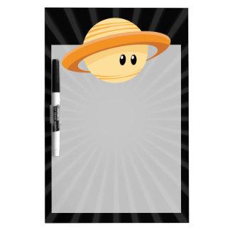 Planeta lindo de Saturn Tableros Blancos