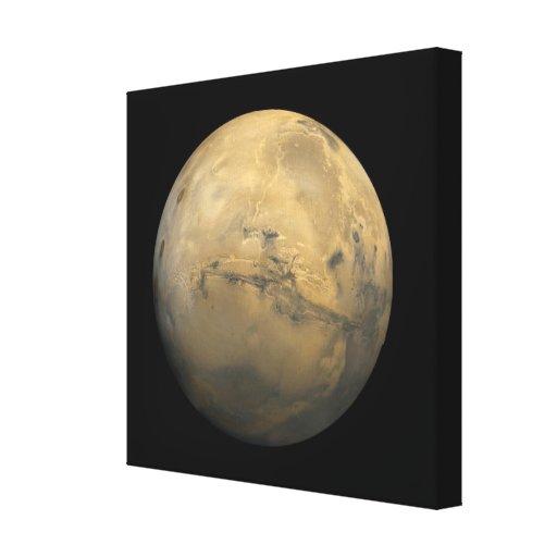 Planeta Marte en la Sistema Solar Lona Envuelta Para Galerías