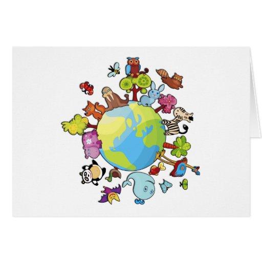 Planeta pacífico tarjeta de felicitación