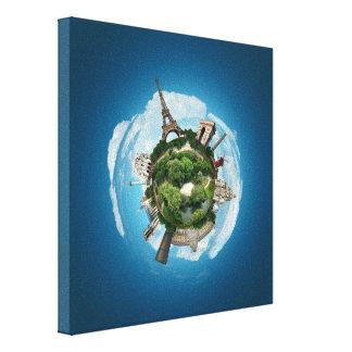 Planeta París - arte surrealista de Digitaces Impresiones En Lona
