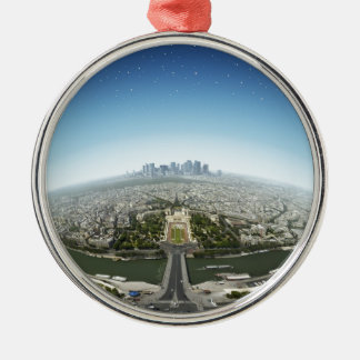 Planeta París Ornamento Para Arbol De Navidad
