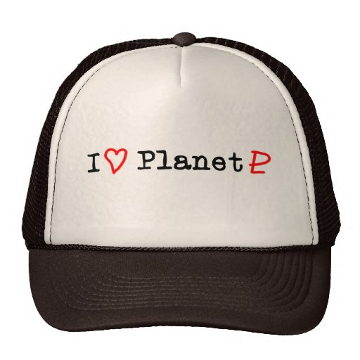 "Planeta Plutón del ""corazón I"" Gorras"