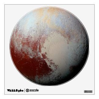 Planeta Plutón por la etiqueta redonda de la pared Vinilo Adhesivo