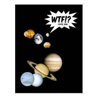 ¿Planeta Plutón WTF!? Postal