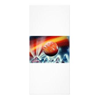 Planeta rojo sobre las montañas con hacer excursio tarjeta publicitaria personalizada