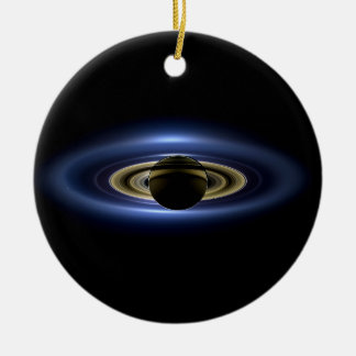 Planeta Saturn delante del Sun Adorno De Reyes