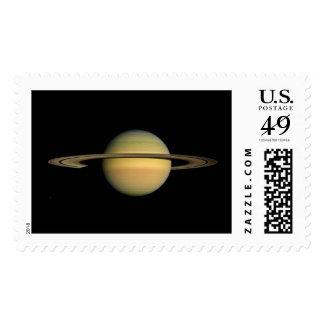 PLANETA SATURN DURANTE ~~ del EQUINOCCIO (Sistema Sellos Postales