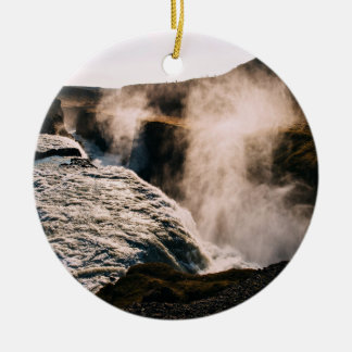 Planeta temático, paisaje vaporizado de la tierra adorno redondo de cerámica