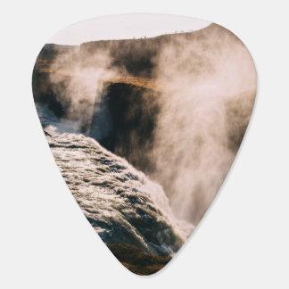 Planeta temático, paisaje vaporizado de la tierra plumilla de guitarra