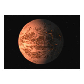 """Planeta terrestre estupendo de Gliese 876 D de la Invitación 5"""" X 7"""""""