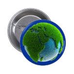 Planeta Tierra hecho de agua y hierba - M1 Pin