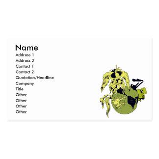 planeta tóxico tarjeta de visita