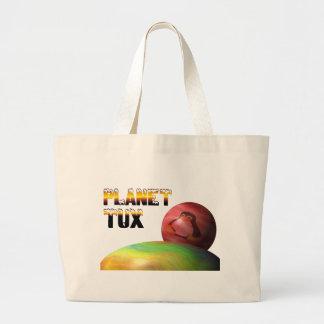 Planeta Tux Bolsa Tela Grande