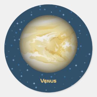 Planeta Venus Pegatina Redonda