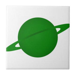 Planeta verde azulejos