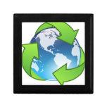 Planeta verde caja de joyas