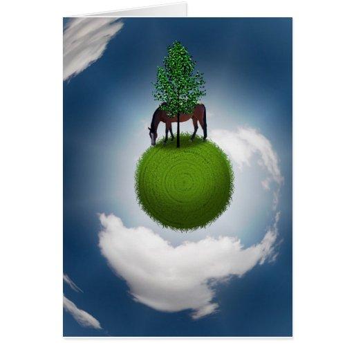 Planeta verde felicitación