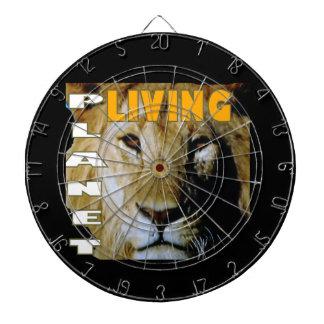 Planeta vivo del león respetuoso del medio