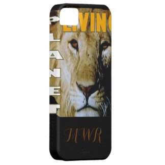 Planeta vivo del león respetuoso del medio iPhone 5 Case-Mate protector