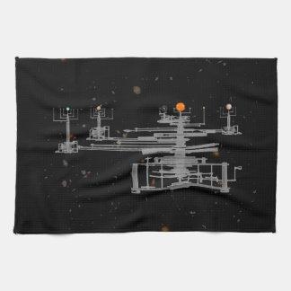 Planetario antiguo de la Sistema Solar en espacio Toallas De Mano