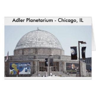Planetario de Adler - Chicago, IL Tarjeta De Felicitación