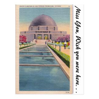 Planetario de Adler, Chicago, Illonois Postal