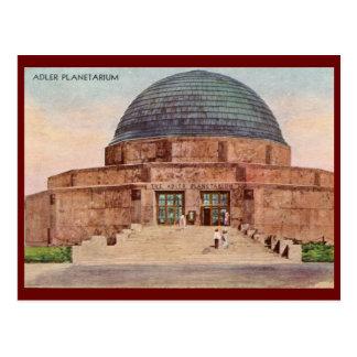 Planetario de Adler, vintage 1933 de Chicago Postal