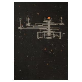 Planetario de la Sistema Solar en universo Póster De Madera