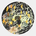 Planetario - extracto negro pegatina redonda