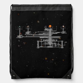 Planetario planetario en espacio mochila