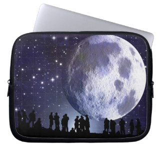 Planetarium Silhouettes Astronomy Laptop Sleeve