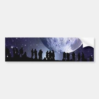 Planetarium Silhouettes Moon Stars Astronomy Bumper Sticker