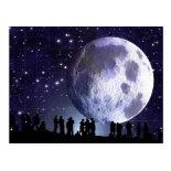 Planetarium Silhouettes Moon Stars Astronomy Postcards