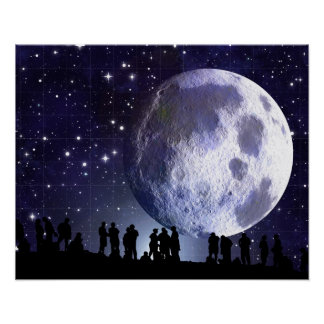 Planetarium Star Vault Moon Stargazers Poster